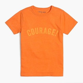 "J. Crew Factory Boys' ""courage!"" graphic T-shirt"