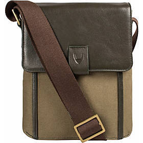 Hidesign Aiden Small Canvas & Leather Crossbody