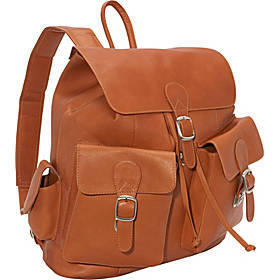 Piel Large Buckle Flap Backpack