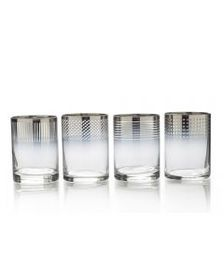 Mikasa Ombre Set of 4 Double Old Fashioned Glasses