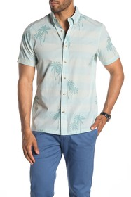 Ben Sherman Striped Palm Tree Short Sleeve Origina