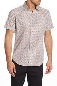 Robert Graham Crosspointe Short Sleeve Print Tailo