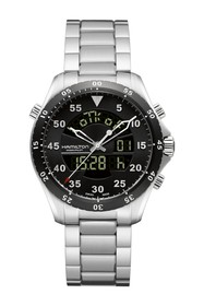 Hamilton Men's Khaki Flight Timer Stainless Steel