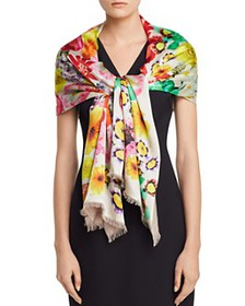 Echo - Summer Floral Oblong Scarf
