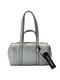 Marc Jacobs The Tag Coated Leather Duffle Bag BLAC