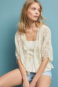 Anthropologie Lacie Cropped Shrug