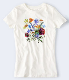 Aeropostale Floral Bouquet Graphic Tee