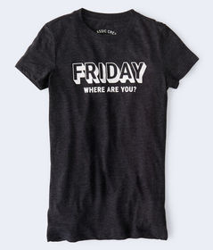 Aeropostale Friday Where Are You Graphic Tee