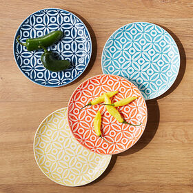 Crate Barrel New Alameda Plates, Set of 4
