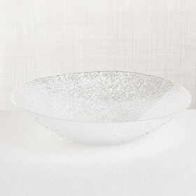 Crate Barrel Berkeley Pressed Glass Serving Bowl