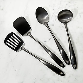 Crate Barrel Graphite Kitchen Utensils
