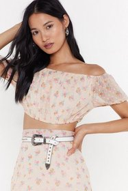 Nasty Gal Womens Nude Frill 'Em with Kindness Flor