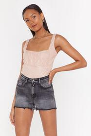 Nasty Gal Womens Pink Can't Help But Square Neck L