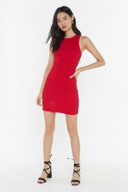Nasty Gal Womens Red Fully Shirred Racer Mini Dres
