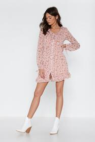 Nasty Gal Womens Pink Shimmy Shimmy More Floral Ru