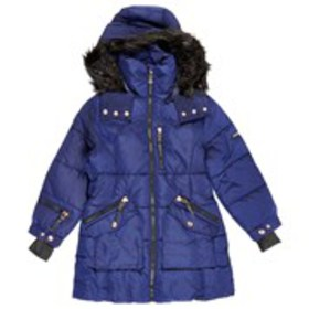 XOXO Girls Quilted Parka with Detachable Faux Fur