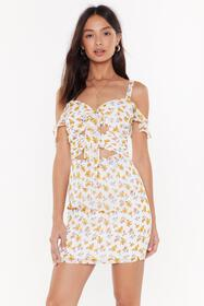 Nasty Gal Womens White Let It Grow Bow Mini Dress