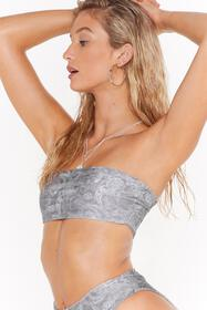 Nasty Gal Womens Sage Paisley Up Bandeau Top