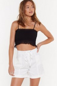 Nasty Gal Womens White Which Strings Me to the Poi