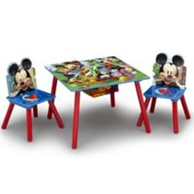 Disney Mickey Mouse Kids Table and Chair Set with