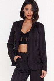 Nasty Gal Womens Black The Line of Your Life Strip