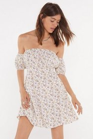 Nasty Gal Womens White Got It Growing On Floral Of