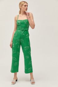 Capulet UO Exclusive Blaire Printed Belted Jumpsui