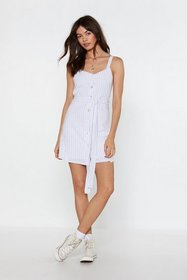 Nasty Gal Womens White It's a Fine Line Button Min
