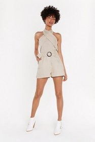 Nasty Gal Womens Stone That's a Wrap Halter Top