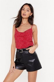 Nasty Gal Womens Red Stop in the Name of Love Hear