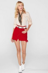 Nasty Gal Womens Red After Party Vintage One More