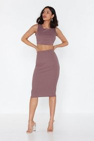 Nasty Gal Womens Mauve Without Line or Reason Top