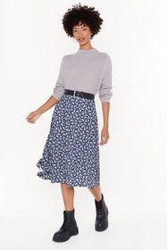 Nasty Gal Womens Navy Flower Time is Now Floral Mi