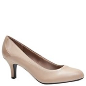 LIFE STRIDE Womens Patent Almond Toe Pumps