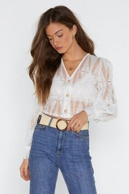 Nasty Gal Womens White Believe Nothing of What You