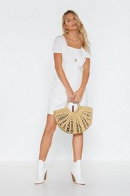 Nasty Gal Womens Ivory Hook You in Mini Dress