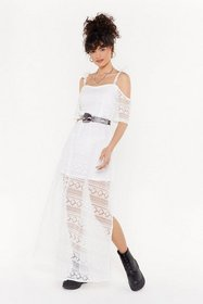Nasty Gal Womens White Giving You the Cold Shoulde