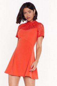 Nasty Gal Womens Coral Friends in High Laces Fit &