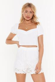Nasty Gal Womens White You're Sew Vain Broderie An