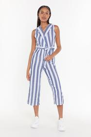 Nasty Gal Womens Grey All the Stripe Moves Cropped