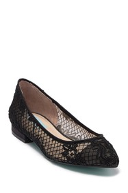 Betsey Johnson Lacey Pointed Toe Flat