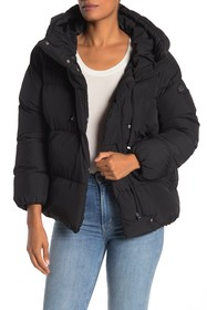 Jessica Simpson Hooded Asymmetrical Zip High/Low P