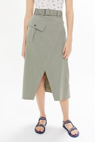C/meo Collective To A Stranger Notched Midi Skirt