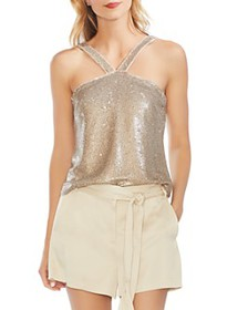 VINCE CAMUTO - Two-Tone Sequined Top
