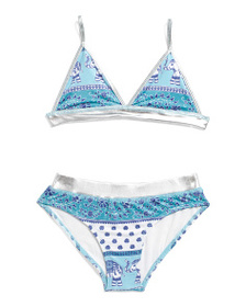 MASALA BABY Girls Patterned Two-piece Swimsuit