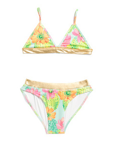 MASALA BABY Girls Cactus Floral Two-piece Swimsuit