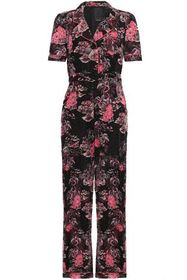 ANNA SUI Belted printed cotton and silk-blend jump
