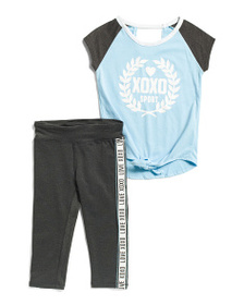 XOXO Little Girls 2pc Legging Set