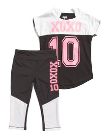XOXO Little Girls 2pc Top And Leggings Set