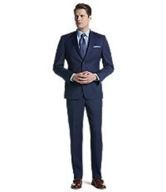 Jos Bank Traveler Collection Tailored Fit Pinstrip